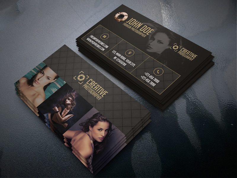 Fashion Photographer Business Card Template PSD
