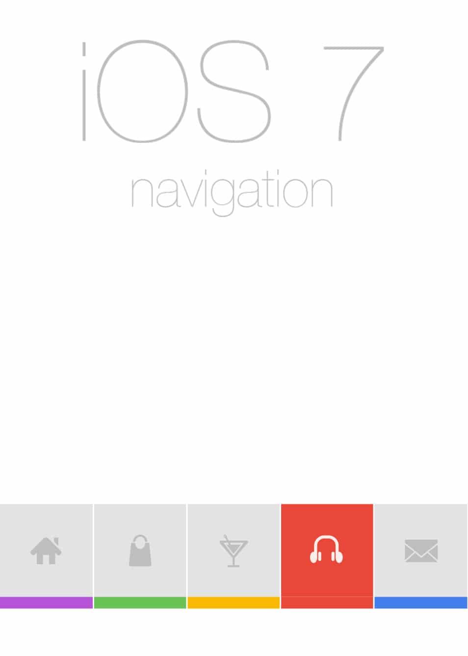 Flat iOS7 Navigation