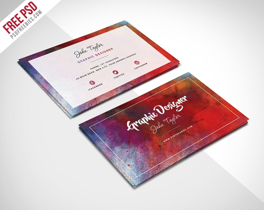 100 free business cards psd the best of free business cards for Business card images free