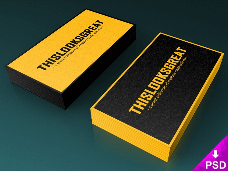Free Business Card Stacks Mock-up PSD