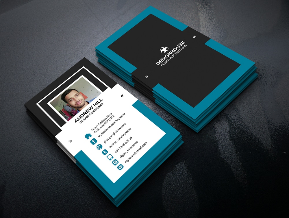 Free business card psd dawaydabrowa free business card psd flashek Gallery
