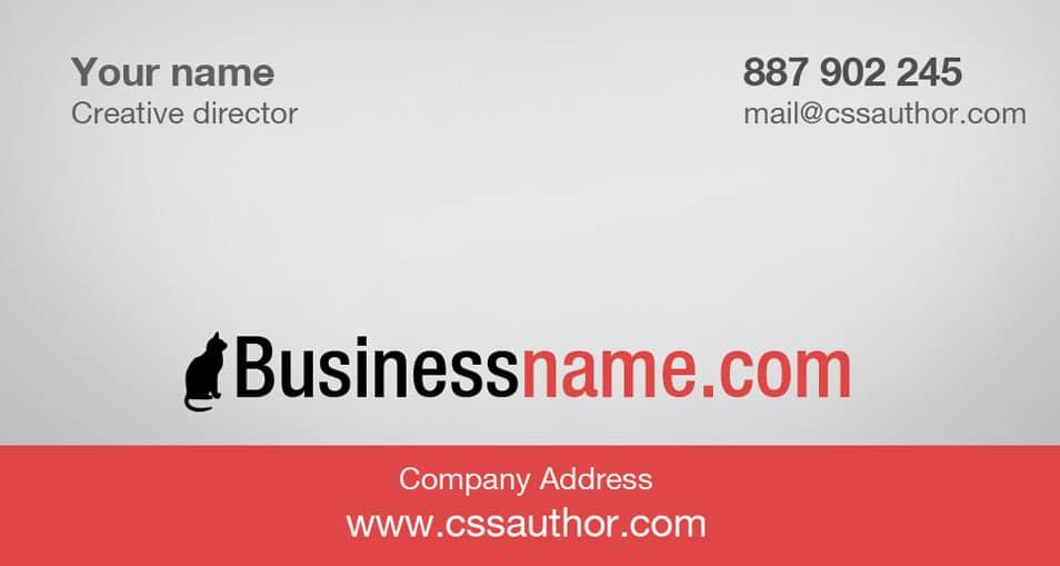 Free Clean Business Card Design PSD