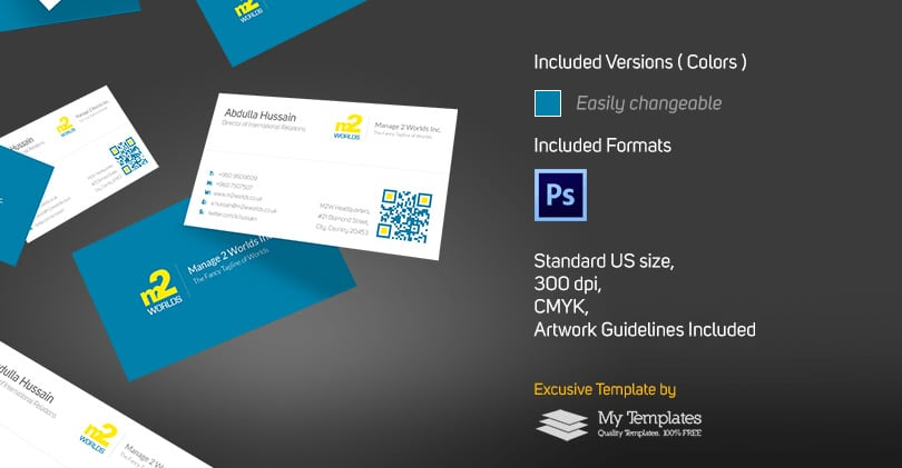 Free Clean Business Card Template PSD