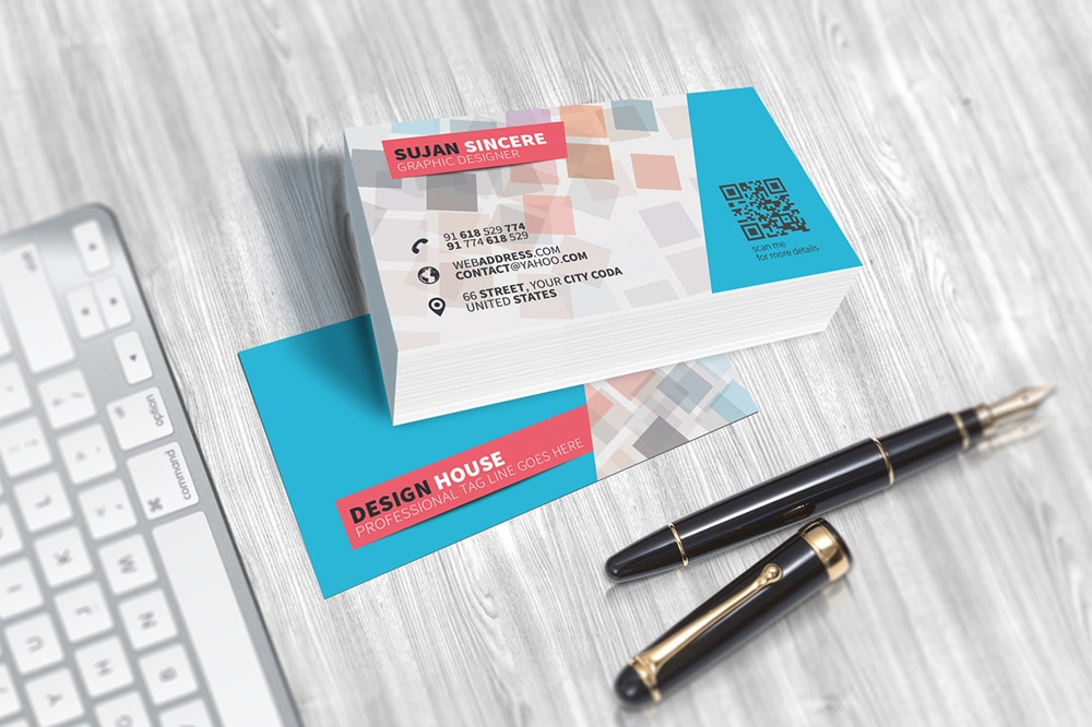 Free Colorful Business Card Template PSD