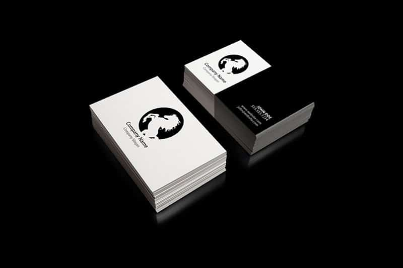 Free Corporate Styled Business Cards PSD