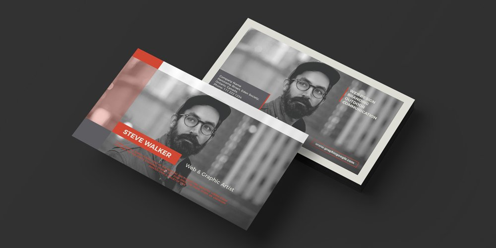 Free Creative Graphic Artist Business Card Template