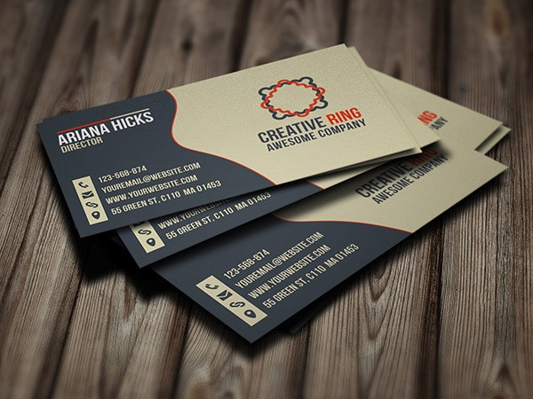 Free Creative Ring Business Cards PSD