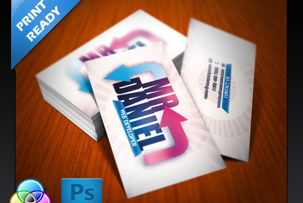 Free Developer Business Card PSD
