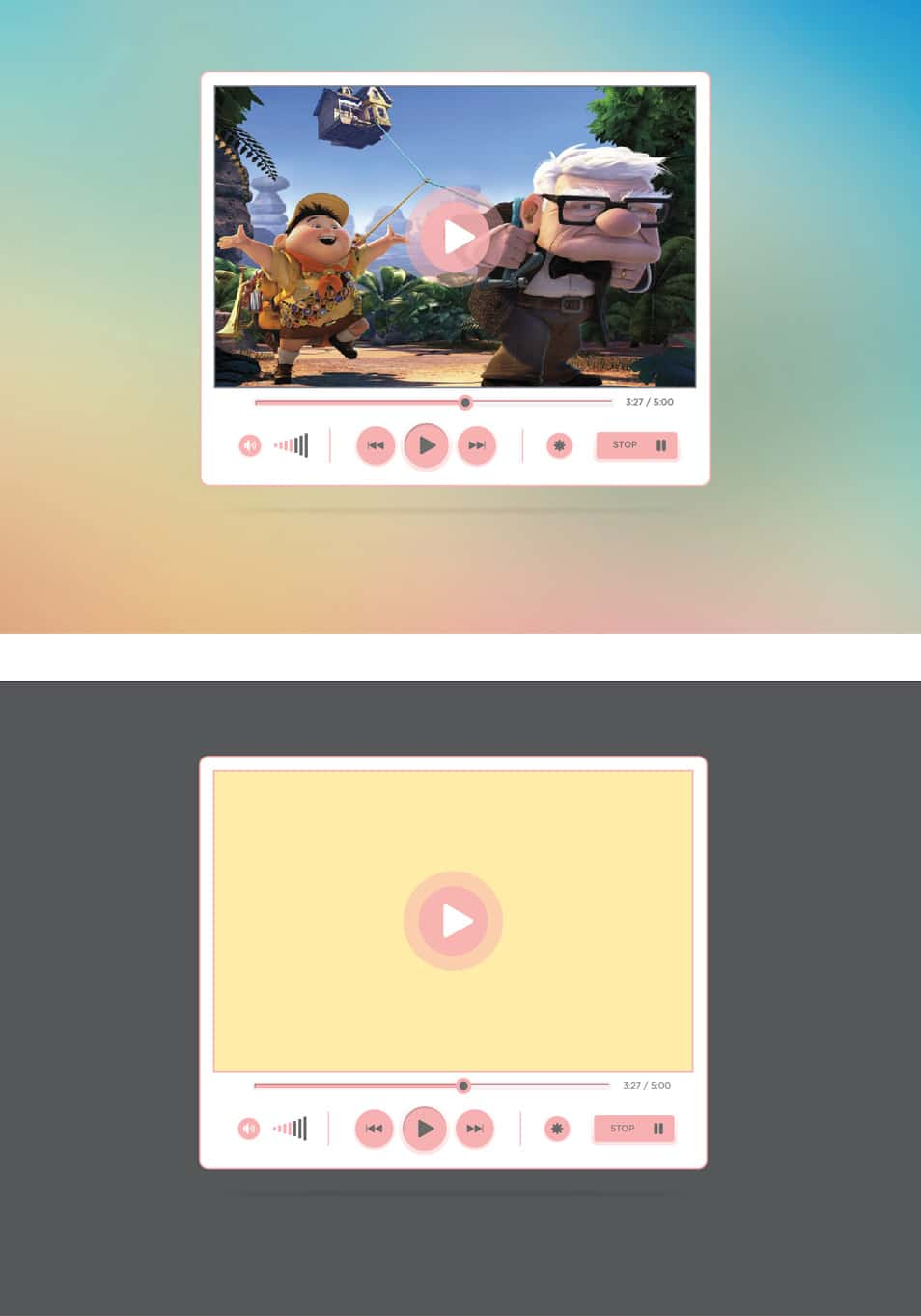Free Media Player UI