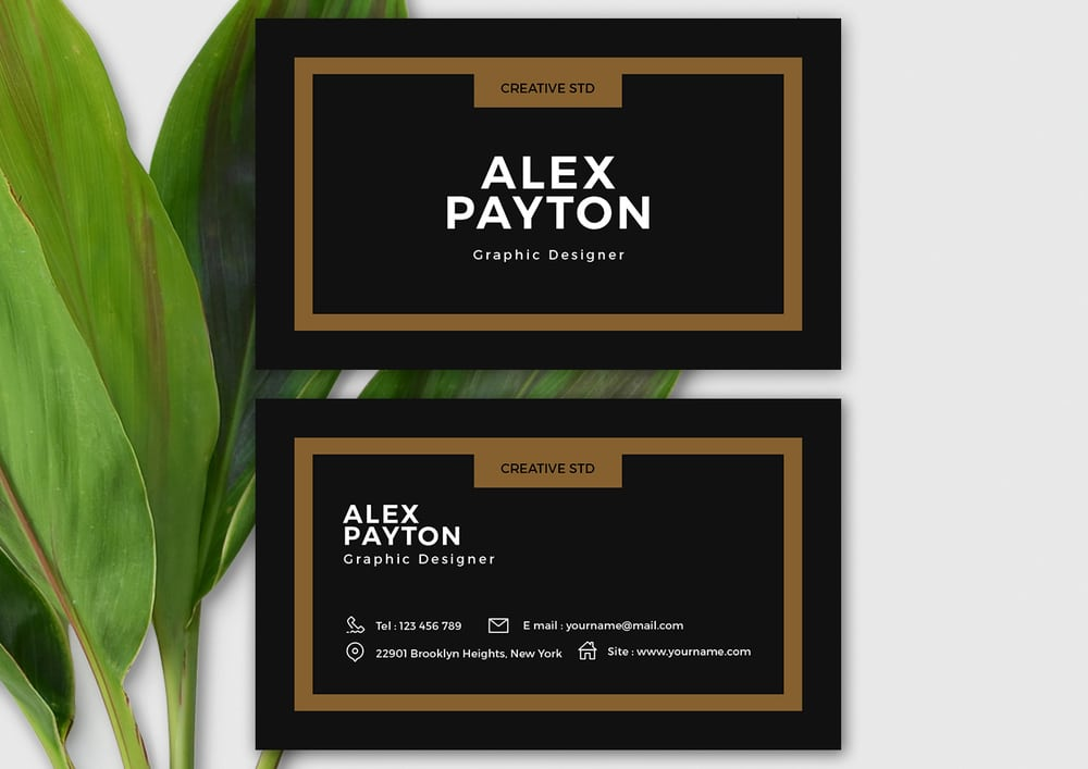 Free Minimal Business Card Template PSD