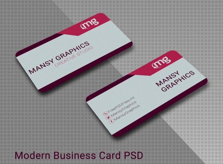 Free Modern Business Card PSD