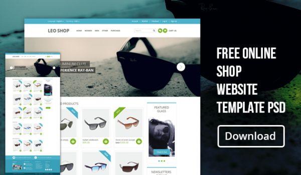Free Online Shop Website Template PSD - cssauthor.com