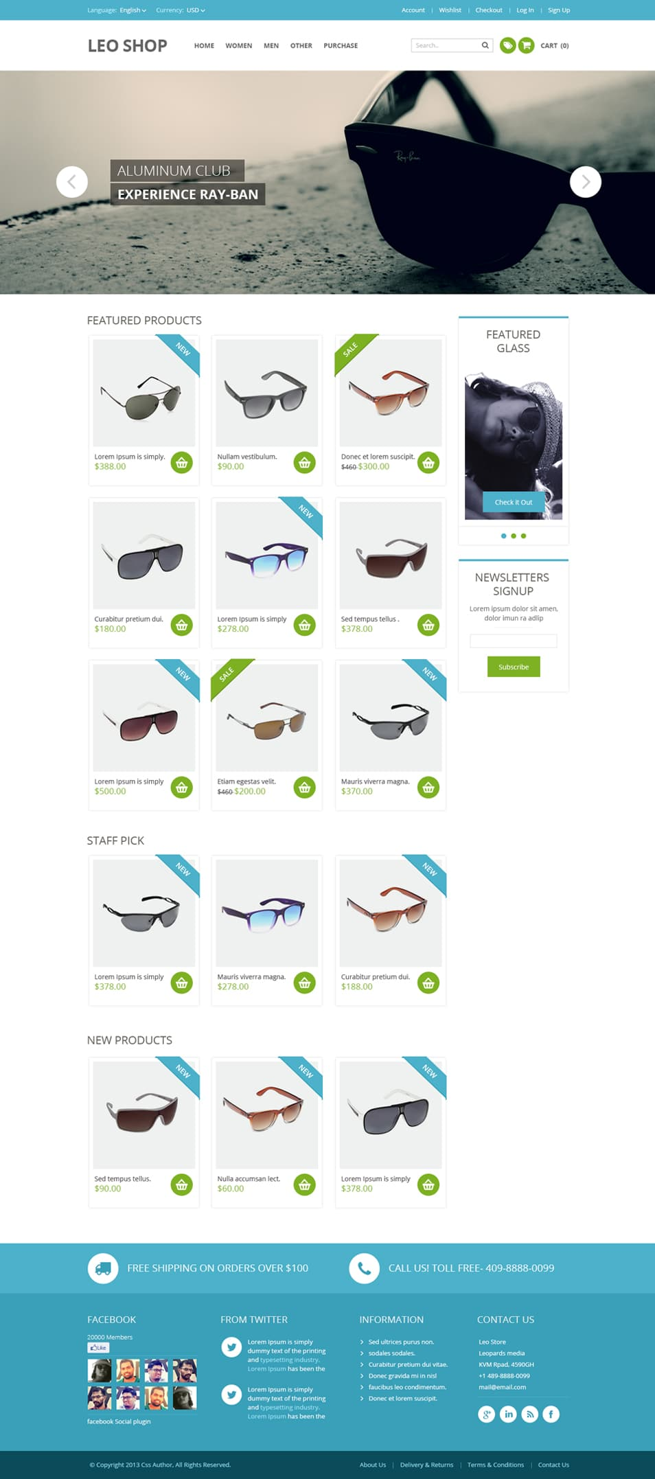 Free online shop website template psd css author for Outlet design online