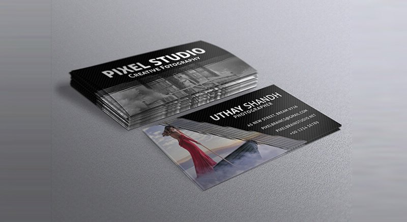 Free Photography Business Card Template PSD