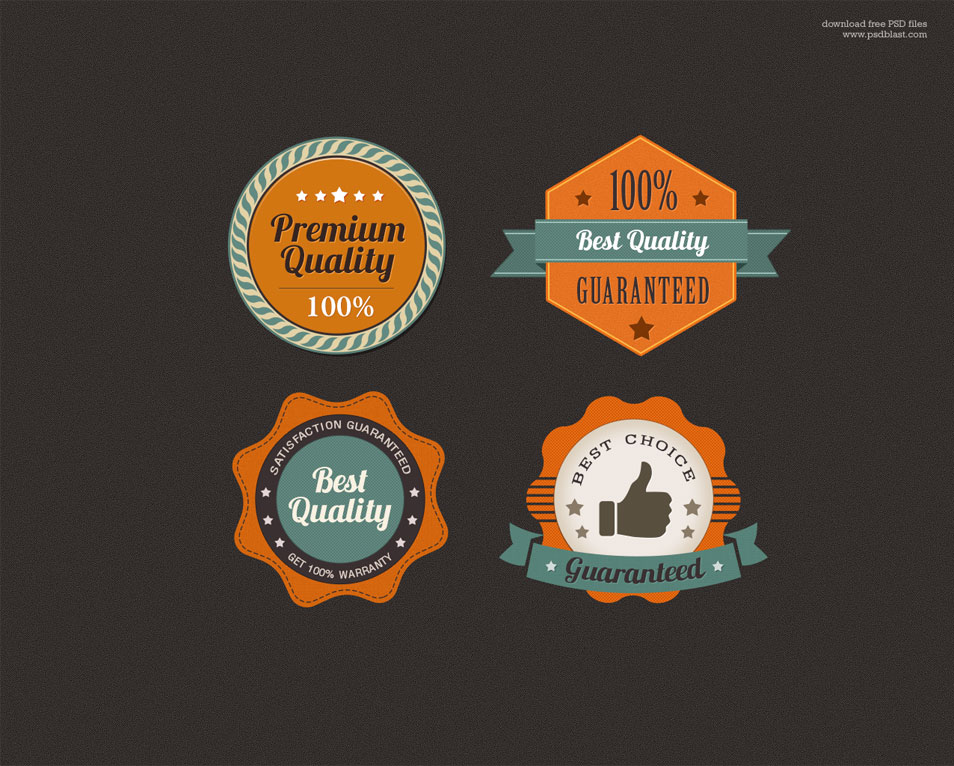 Free Premium Quality Web Badge (PSD)