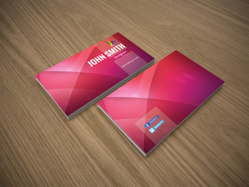 Free Business Cards PSD 推酷 - Free business cards templates photoshop