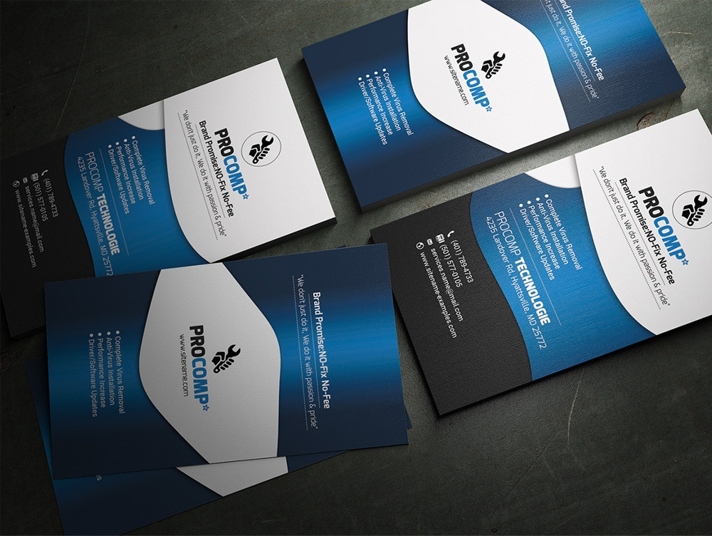 Free Service Business Card Template PSD