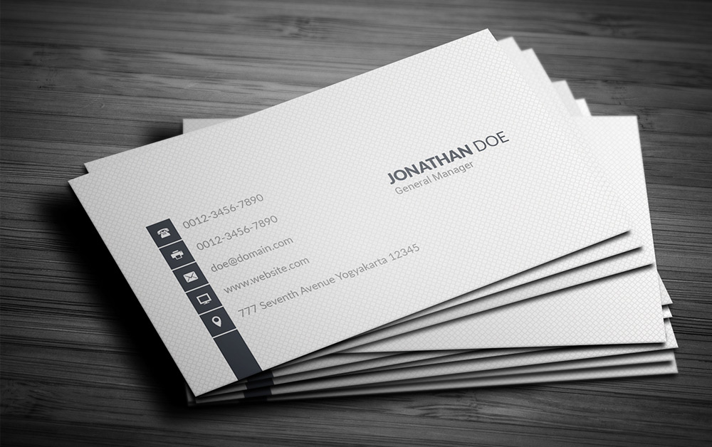 Free Simple Business Card PSD