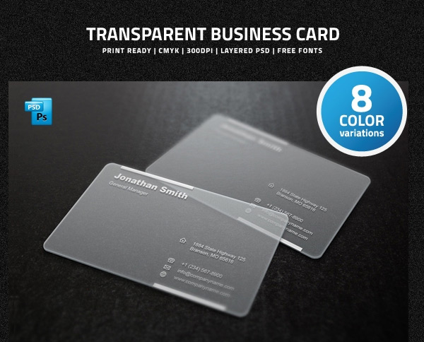 Free Transparent Business Card PSD