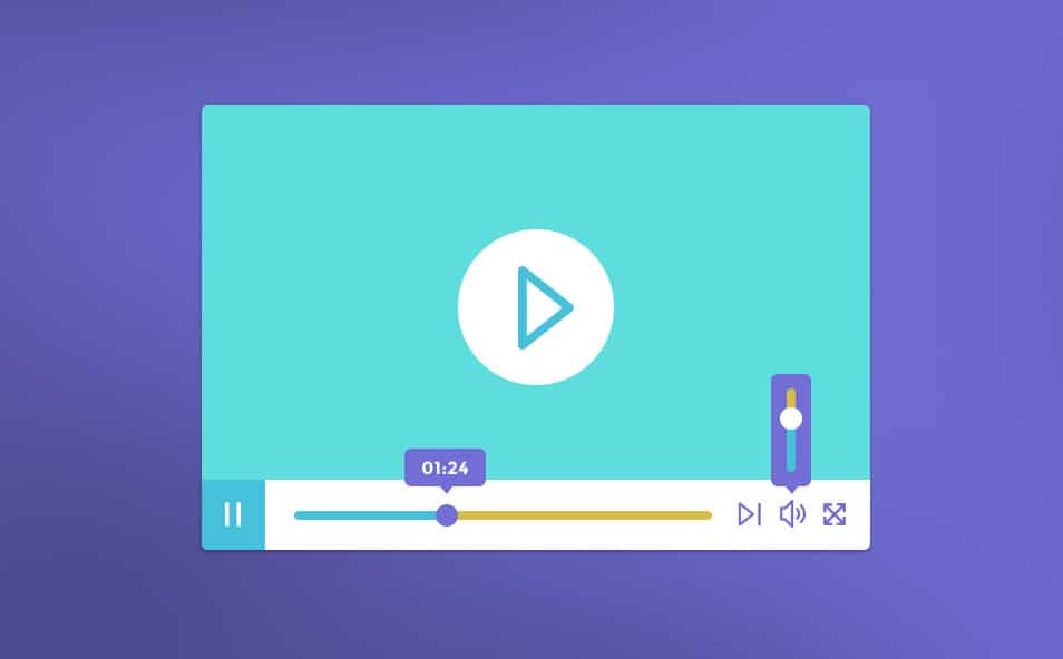 Free Video Player PSD