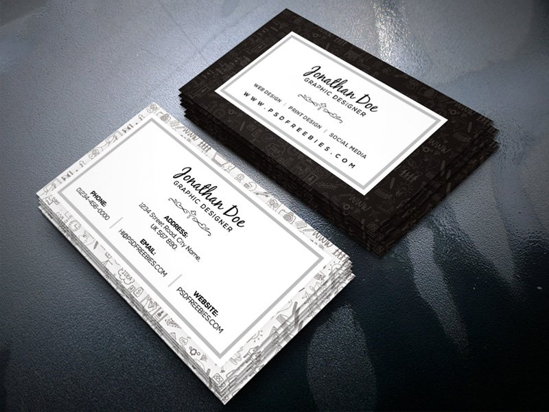 100 free business cards psd the best of free business cards for Freelance business cards