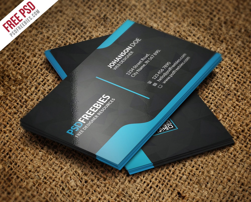 100 free business cards psd the best of free business cards for Free complimentary cards templates