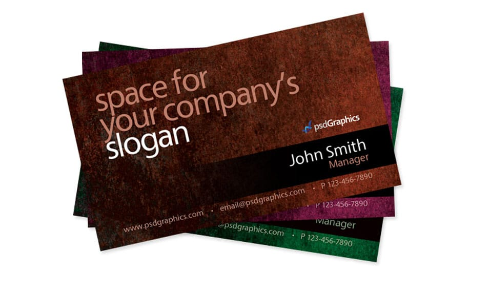 Grunge-business-card-psd