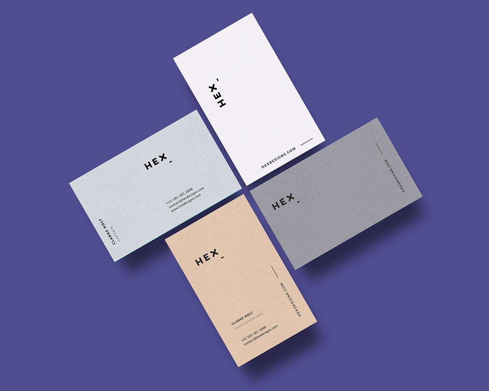 HEX Business Card Template PSD