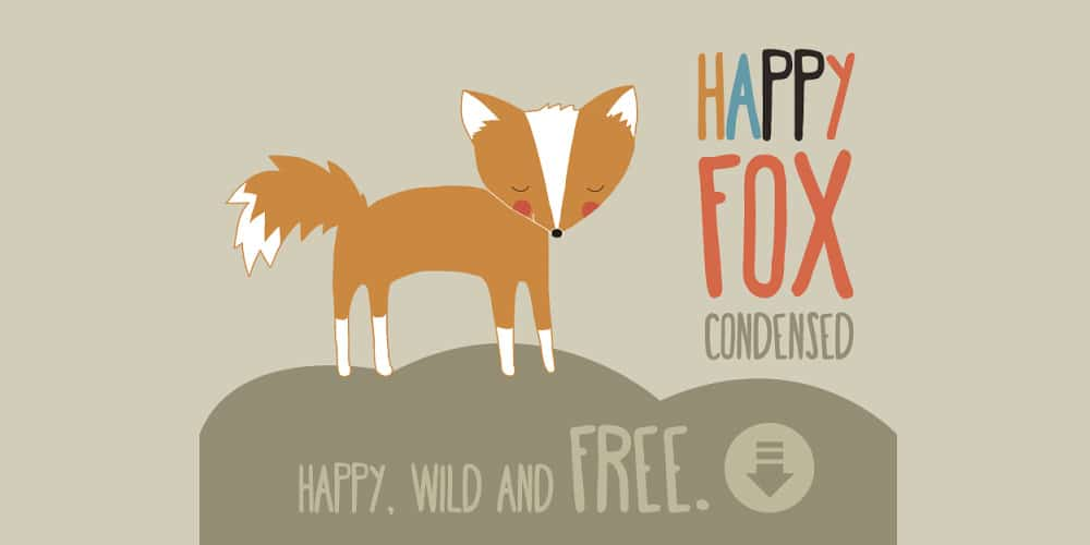 Happy Fox Free Font