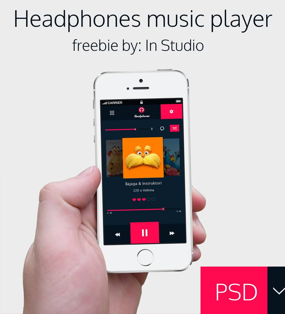 Headphones music player