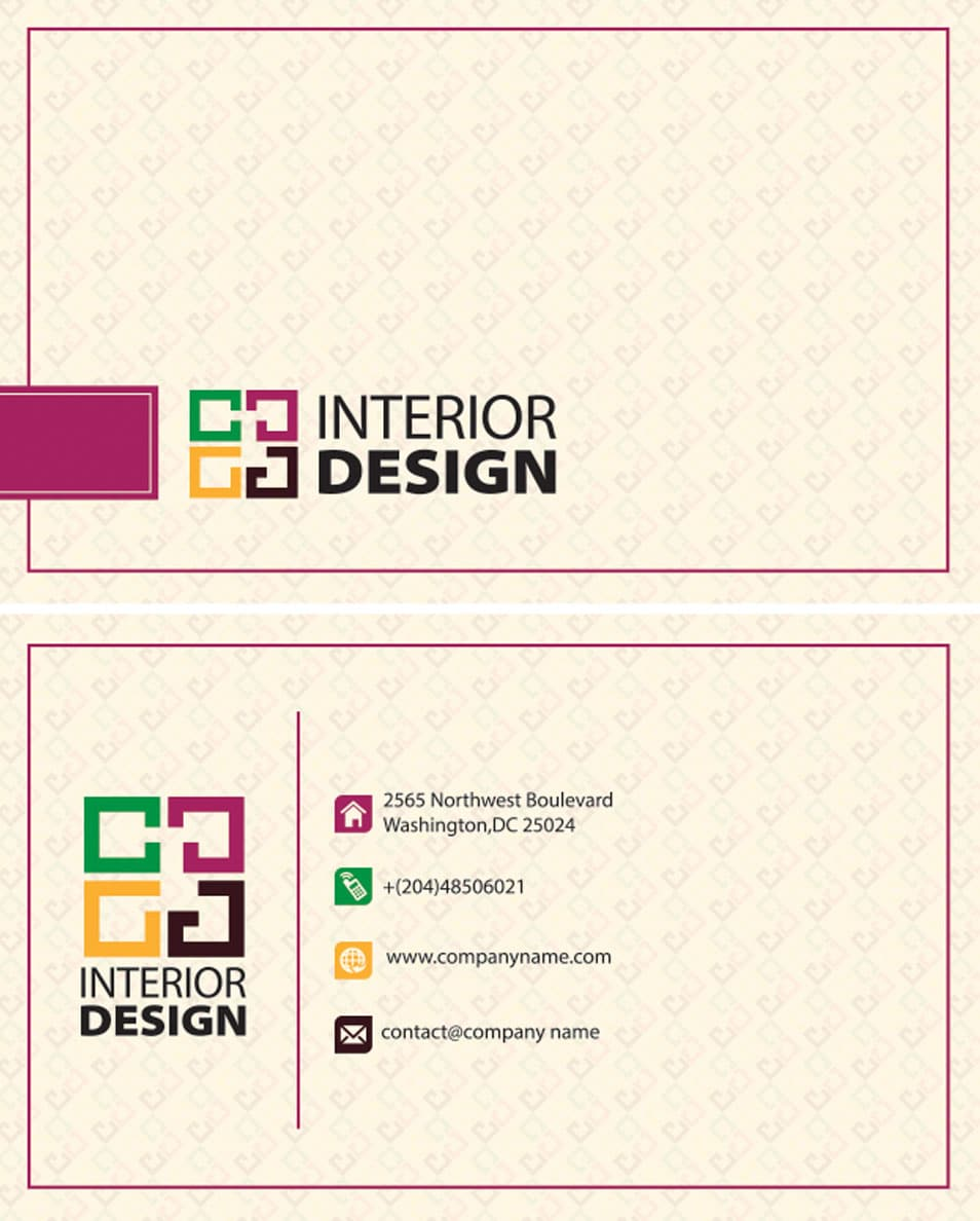 Interior design business card for Interior design company list