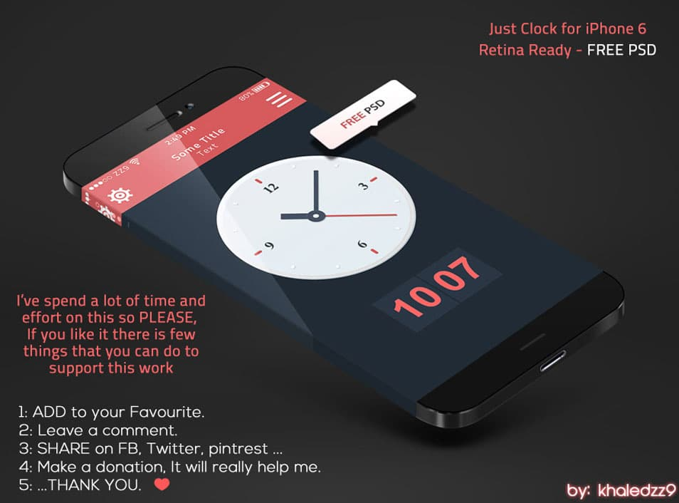 Just Clock for iPhone 6 Retina Ready - FREE PS