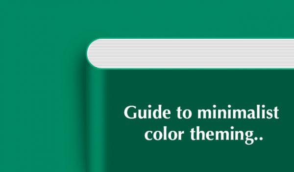 Minimalist Color Theming