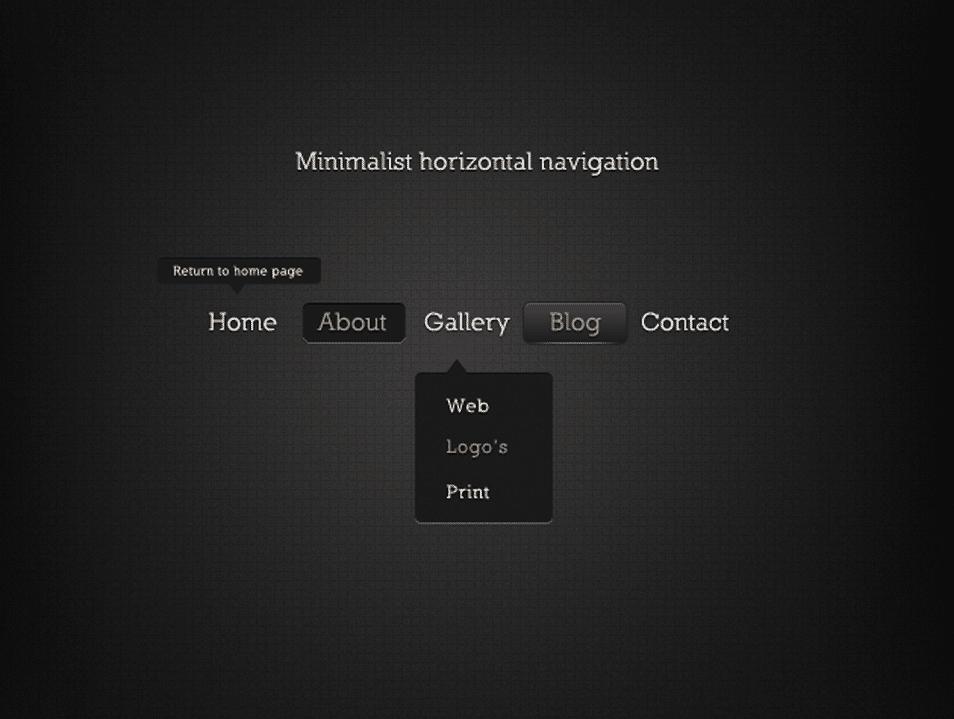 Minimalist Horizontal Navigation