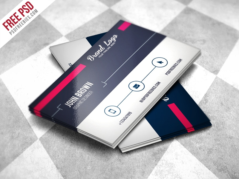 Modern Business card Design Template PSD