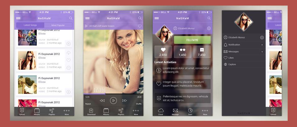 Nagham – Music IOS-7 App