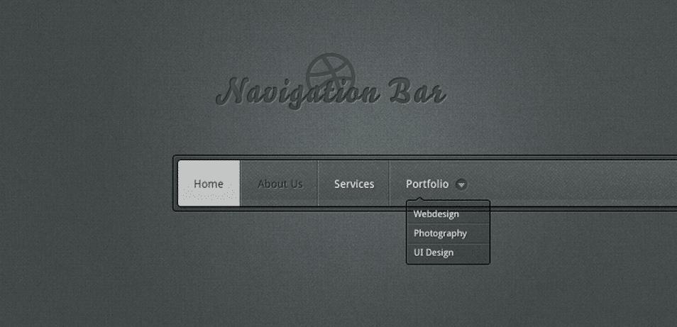 Navigation Bar PSD