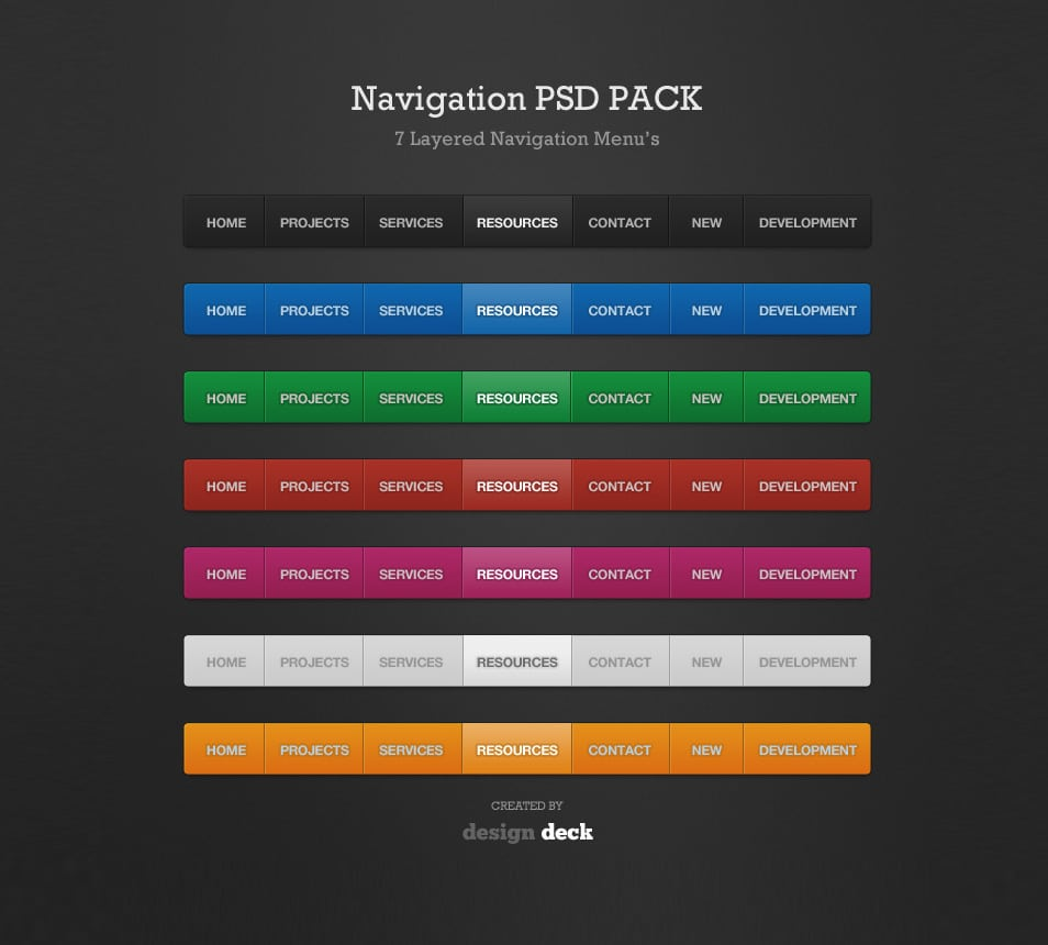 Navigation-Menu--PSD