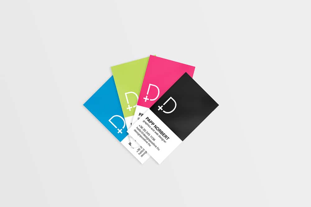 Pantone Style Business Card Template PSD