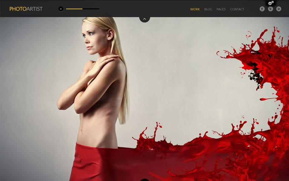 PhotoArtist - Photography WordPress Theme