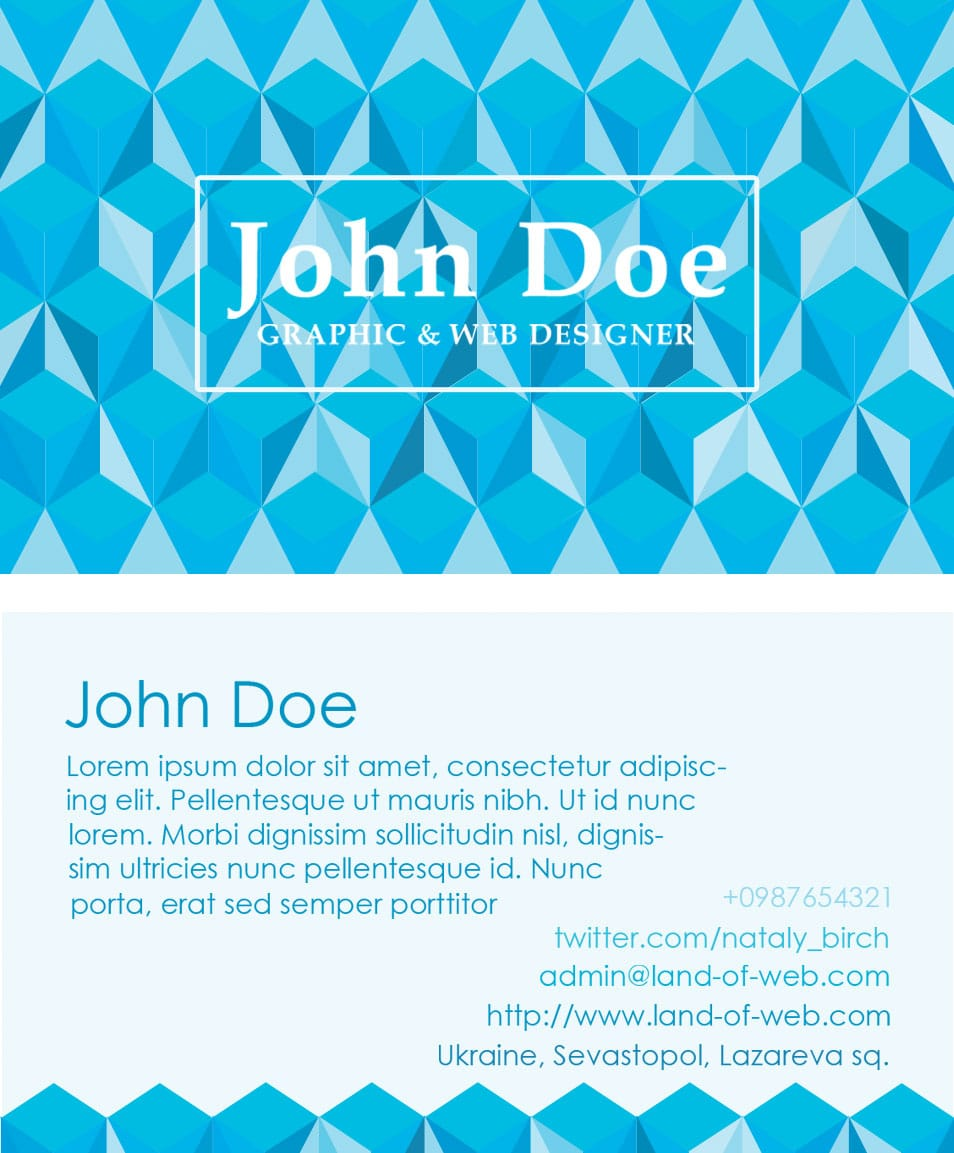 Polygonal Business Card PSD