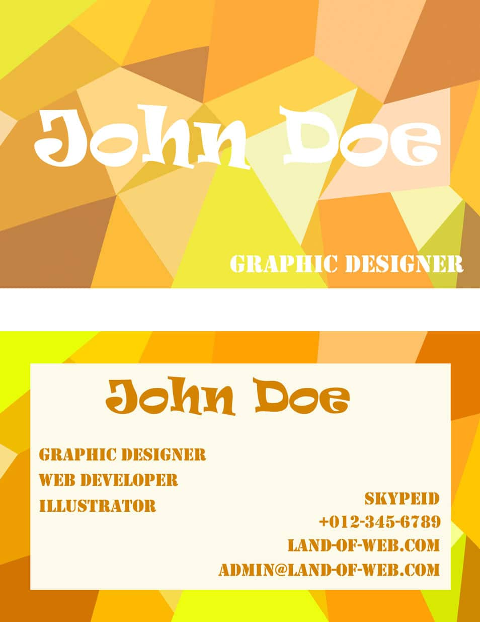 Positive Poly Inspired Business Card PSD