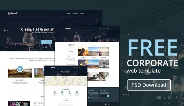 Professional Free Corporate Web Design Template PSD - cssauthor.com