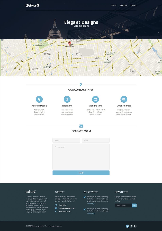 Professional Free Corporate Web Design Template PSD