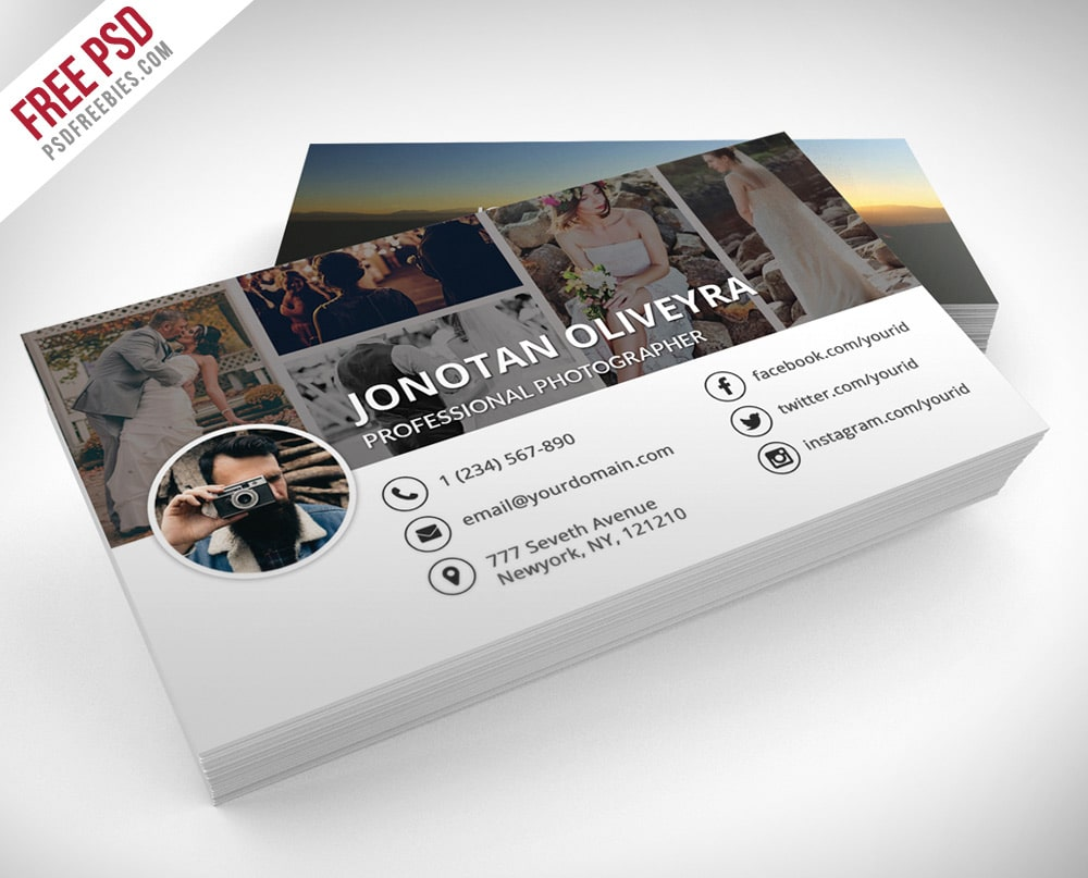 Professional Photographer Business Card PSD