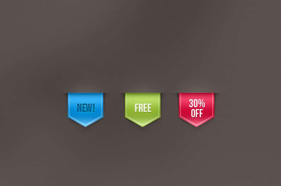 Psd Web Ribbon Sale Label Vol 1