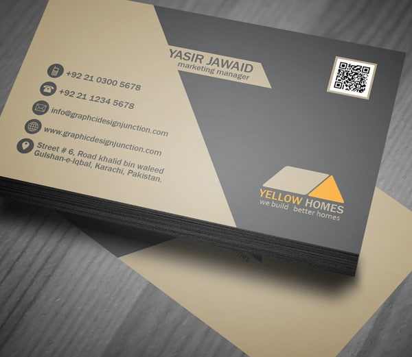 Real Estate Business Card Template PSD