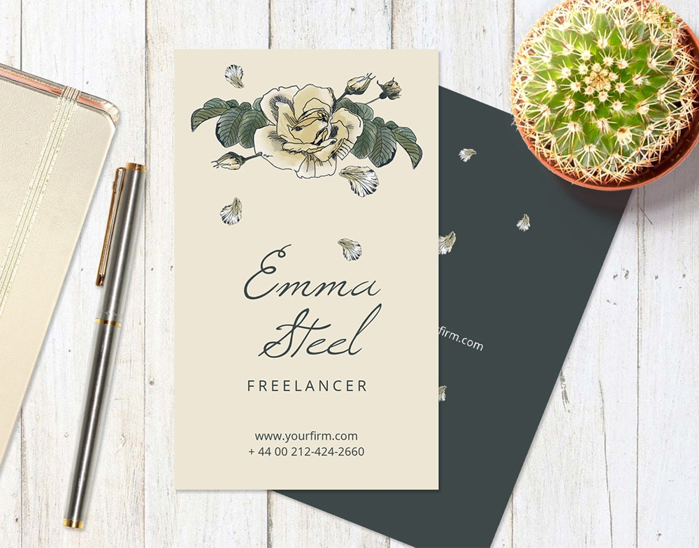 Roses Business Card PSD