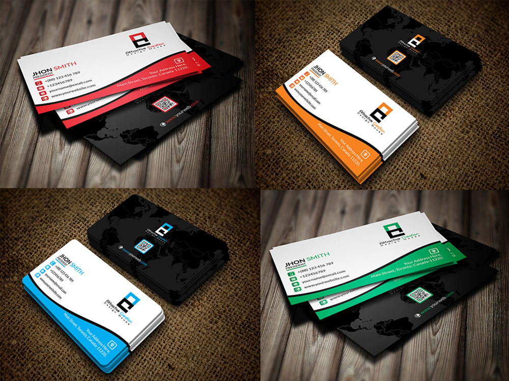 Simple and Creative Business Card PSD