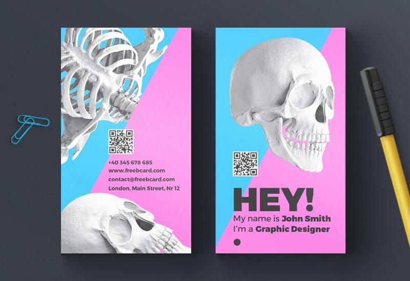 Skull Business Card Template